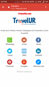 travelur refer & earn offer